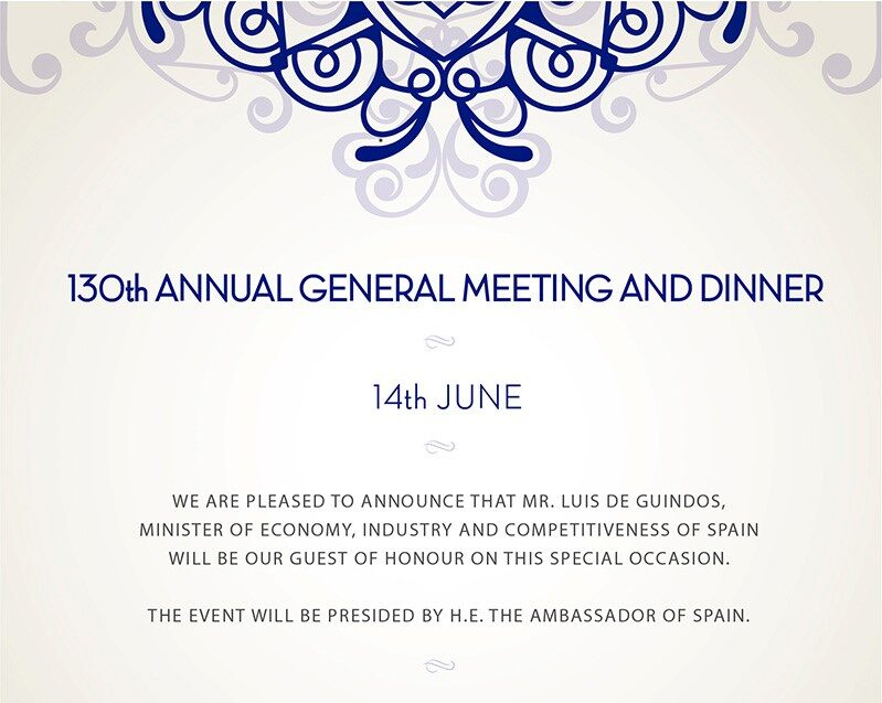 130th Annual General Meeting and Dinner