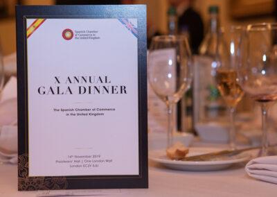 X GALA DINNER Thursday 14th November 2019 Plaisterers' Hall