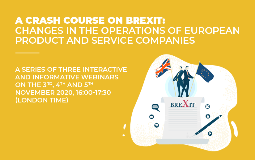 A CRASH COURSE ON BREXIT: Changes in the operations of European product and service companies