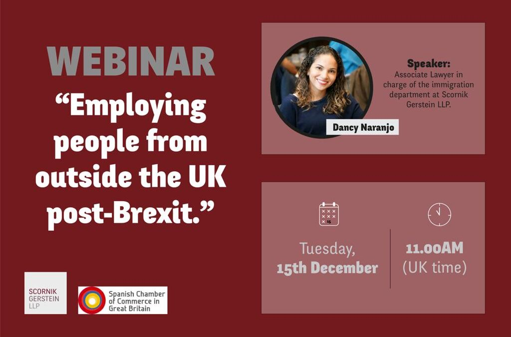 WEBINAR | Employing People from outside the UK post-Brexit