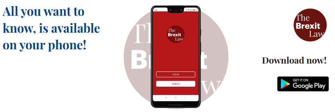 BLOG POST | THE BREXIT LAW APP: ALL YOU WANT TO KNOW, IS AVAILABLE ON YOUR PHONE!